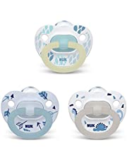 NUK Orthodontic Pacifier Value Pack, Boy, 0-6 Months, 3 Pack