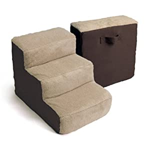 Dallas Manufacturing Co. 3 Step Home Décor Pet Steps, Brown & Tan 16