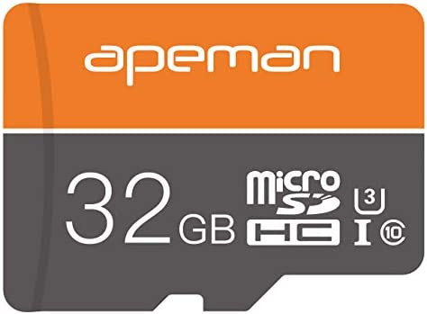 APEMAN 32GB Micro SD Card SDHC UHS-I U3 V30 100MB/s Full HD & 4K UHD Self-Developed Memory Card, Fits Devices with TF Card Slot