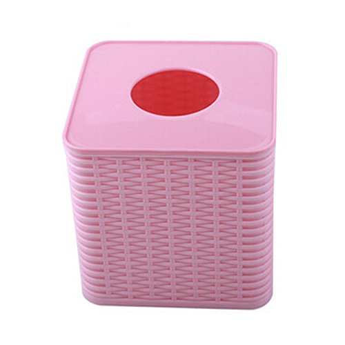Environmental PP Creative Bath Products Tissue Box Holder,Pink (Tissue Box Pink)