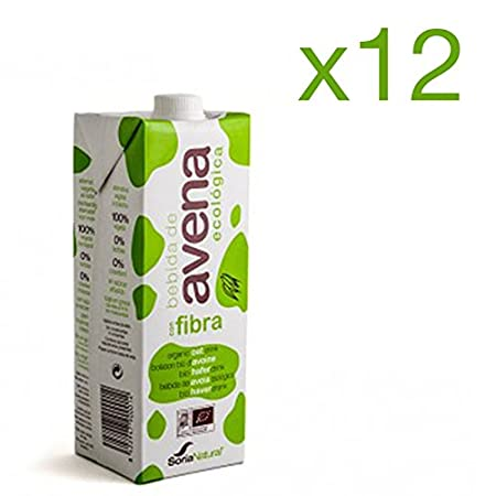 Pack 12 ud BEBIDA DE AVENA BIO ecológica 1 litro SORIA NATURAL: Amazon.es: Salud y cuidado personal