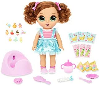 BABY born Surprise Magic Potty Surprise Green Eyes – Doll Pees Glitter & Poops Surprise Charms