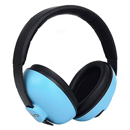 Baby Headphones Safety Ear Muffs Noise Reduction for Newborn Infant Autism Kids Toddlers Sound Cancelling Headphones for Sleeping Studying Airplane Concerts Movie Theater Fireworks, Blue by ILOVEUS (Image #1)