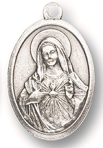 25 Piece Immaculate Heart of Mary Silver Oxidized ()