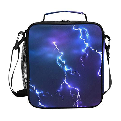 Brighter Atmosphere Lightning Warm Pouch Lunch Bags Lunchbox Meal Picnic Handbags Travel Food Gourmet Bento Container Tote for Office School Work