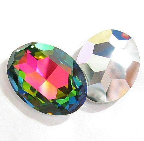 1 pc Swarovski Crystal 4127 Oval Cabochon Stone Bead Vitrail Medium Unfoiled 30mm X 22mm / Findings / Crystallized Element