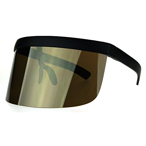 Extra Oversize Visor Style Huge Mask Color Mirror Funky Sunglasses - Visor Style Sunglasses