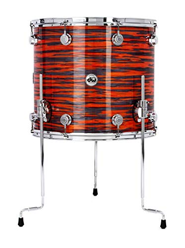 "DW Collectors Series Floor Tom - 16"" x 18"" Maple Mahogany Tiger Oyster"