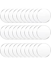 30 Pieces Clear Acrylic Circles Clear Disc Transparent Acrylic Round Circle Clear Disc Acrylic Sheet Acrylic Plastic Disc for Art Project and DIY for Drink or Protection for Furniture