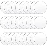 30 Pieces Clear Acrylic Circles Clear Disc