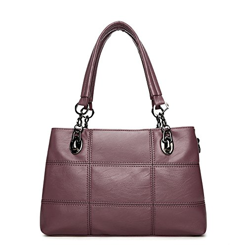 purple Women Howoo Bag PU Crossbody Messenger Pockets Shoulder Multi soft purple Capacity large Girls for Bag Handbag fAwTHqf