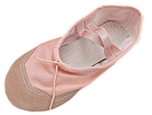 sourcingmap? Tissu rose doux Chaussures de danse pour femme Taille 8,5