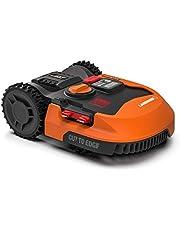 Worx Landroid WR155E 2000 m² grasmaaier / robotmaaier met App-functie en accu, handige accu-grasmaaier voor gras maaien van grote tuinen, een kleine robot als elektrische maaier (draadloos en oranje)