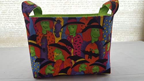 Halloween Fabric Organizer Basket Bin Caddy Storage Container - Lane Trick and -