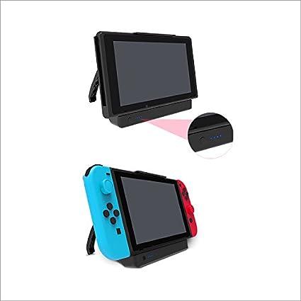 Supremery Nintendo Switch Acumulador Funda 10000mAh Batería Externa Recargable Battery Backup Estuche Power Bank Cargador con función de Soporte para Nintendo Switch, Negro: Amazon.es: Electrónica