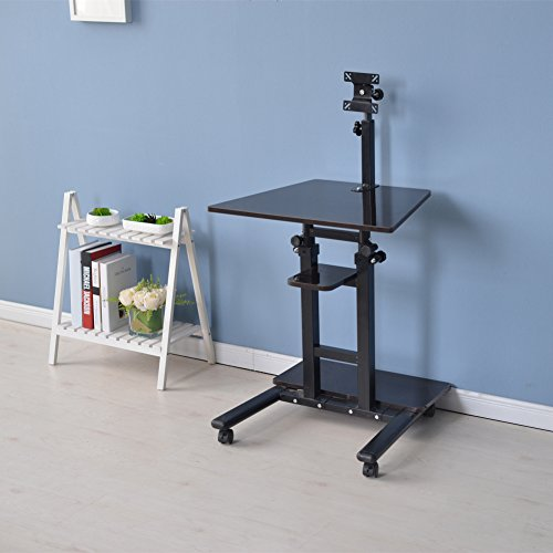 top 5 best mobile workstation cart standing desk for sale 2017 best gift tips. Black Bedroom Furniture Sets. Home Design Ideas