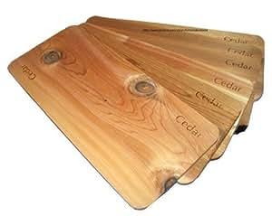 Cedro parrilla Plank Juego de 6jardín, césped, suministro, Mantenimiento