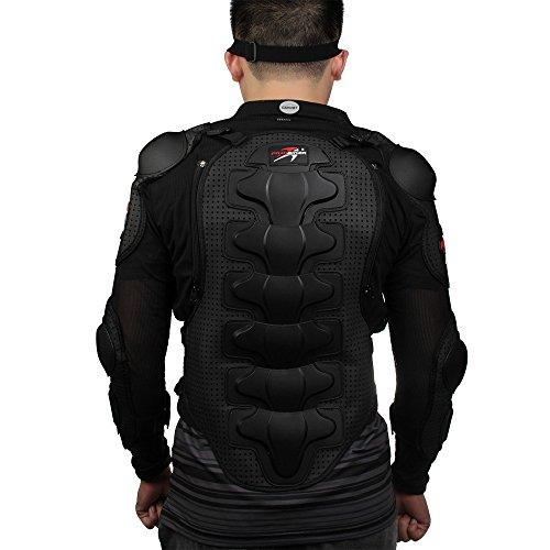 Peto Integral Armadura Chaqueta para Moto Motocross Protecciones Negro Talla L: Amazon.es: Coche y moto