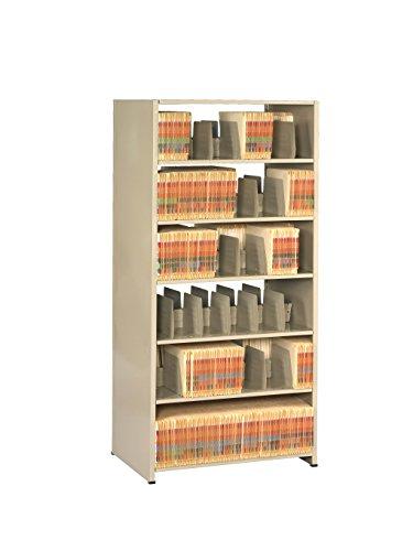Tennsco 2476PC Imperial Open Shelf Filing Unit, Double Entry Starter, 7 Shelves / 6 Openings, 36