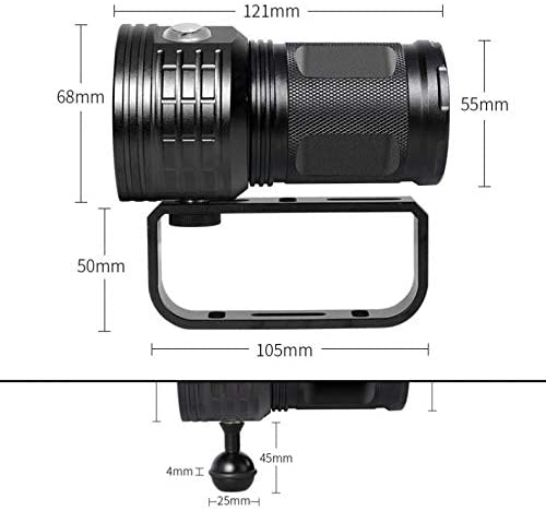 REFIT QH14-4 300W Six 9090 White XML2 Four XPE Red R5 Four XPE Blue R5 LED Support Underwater 80m Flashlight for Diving//Photography