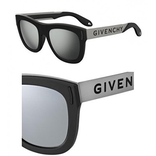 Sunglasses Givenchy Gv 7016 /N/S 0BSC Black Silver / T4 black mirror - Givenchy Sunglasses Men