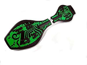 Waveboard mit LED Leuchtrollen grün
