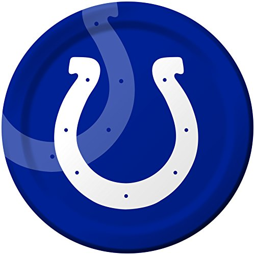 Creative Converting 8 Count Indianapolis Colts Paper Dinner Plates - Colts Indianapolis Desk Team