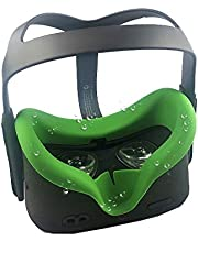 Eyglo VR Face Silicone Cover Mask for Oculus Quest 1 VR Headset Sweatproof Waterproof Replacement Face Pads (Green)