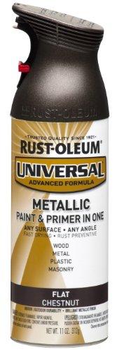 Rust-Oleum 271471 Universal All Surface Spray Paint, 11 oz, Flat Metallic ()