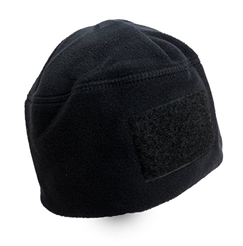 (Rothco Men's Polar Fleece Tactical Watch Cap Beanie With Velcro Patch Black )