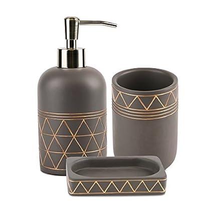Juego de accesorios para baño  Amazon.es  Hogar 3703a2fb409c