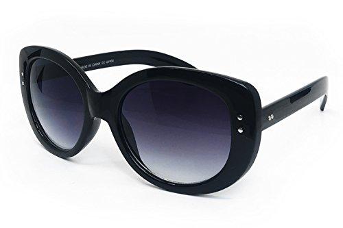 O2 Eyewear 6886 Premium Oversize XXL Women Celine Jackie O Style Fashion Retro Classic vintage Sunglasses (BLACK, 56) (Celine Fashion House)