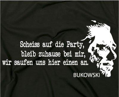2 Charles Bukowski BUK Kult T Shirt, Zitat Quote, Hank: Amazon.de