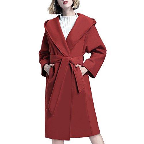 Abrigo Manga para Larga Rosso mujer Y Step vHfqCC