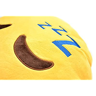 YINGGG Cute Sleeping Emoji Pillow Round Throw Pillow, 32x32x10CM: Home & Kitchen