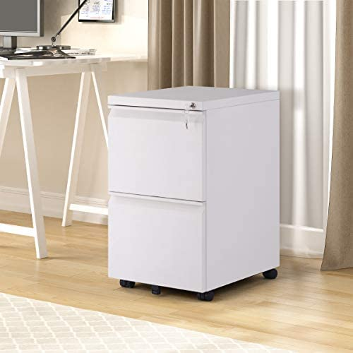 Depointer 2-Drawer Mobile File Cabinet