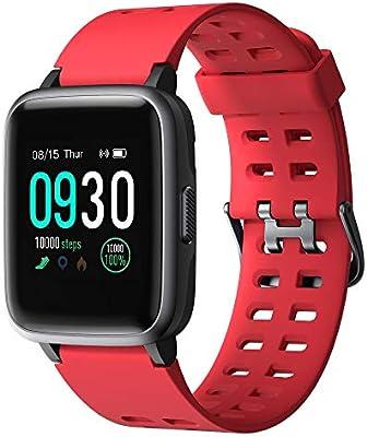 Reloj inteligente para teléfonos Android compatible con iPhone Apple Samsung IP68 versión 2019 impermeable para natación, reloj inteligente inteligente para fitness y fitness, monitor de ritmo cardíaco, relojes inteligentes para hombres y