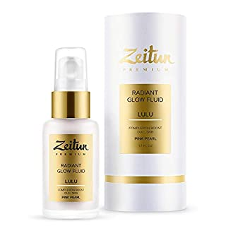 Zeitun Face Cream Moisturizer | Radiant Glow Fluid | Lulu | Complexion Boost For Dull Skin | Pearl Essence | Hyaluronic Acid Moisturizer With A Light Reflecting Particles 50 ml