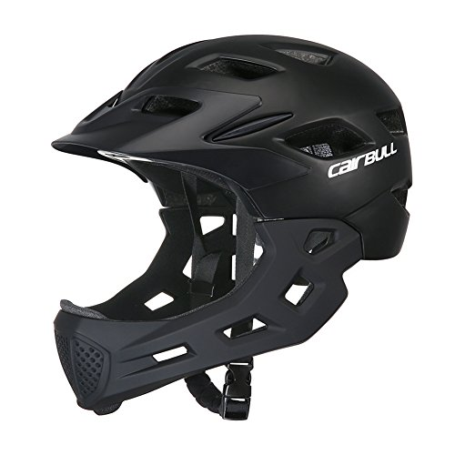 Face Kids Bicycle Helmet - ShiningLove Children Full Face Helmet Kids Bike Cycling Skating Safety Guard Helmet Outdoor Sports Protective Gear Black