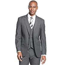 Kenneth Cole Blazer Gray Textured Two Button New Men's Sportcoat