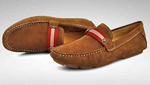 Crc Frt14c8012 Mens Mode Casual Komfort Slip På Högkvalitativa Mocka Walking Kör Båt Loafers Doug Skor Brun