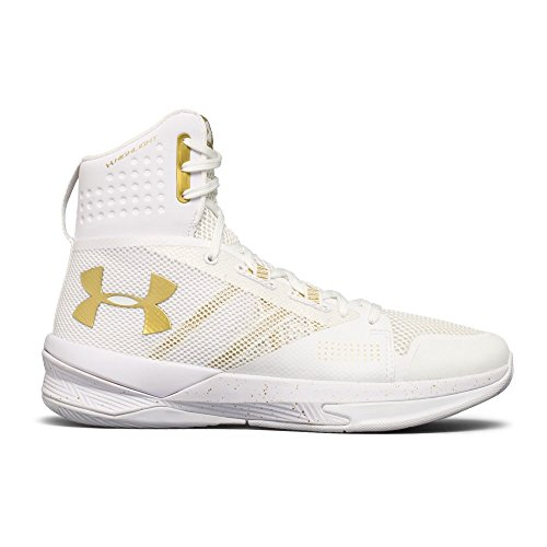 Under Armour Frauen Highlight Ace Volleyball Schuh Weiß / Metallic Gold / Metallic Gold