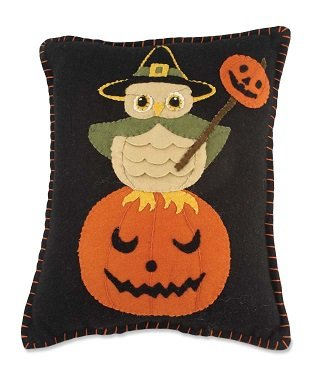 Witchy Owl Pillow by Bethany Lowe Designs RL3608 ()