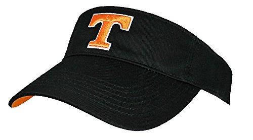NCAA Tennessee Volunteers Adjustable Visor. Black by Collegiate Headwear