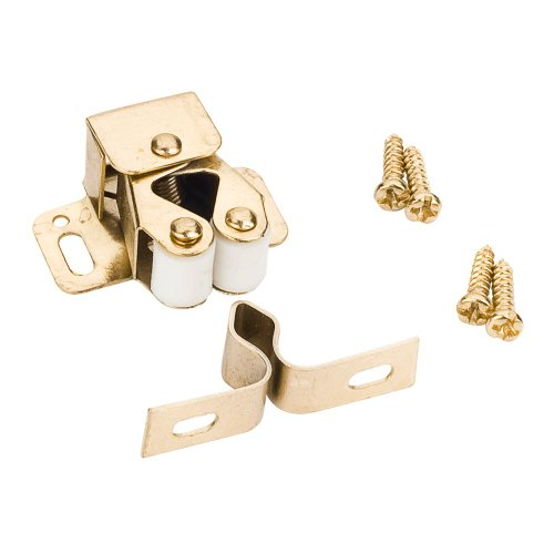 Box of 10- Polished Brass- Double Roller Catches w/Strikes