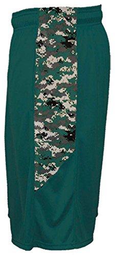 Badger Big Boys' Digital Panel Side Pocket Short, XS, Forest/ Forest Digital by Badger (Image #1)