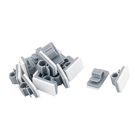 DealMux plástico Oficinas Tiendas Pegado correa de cable de alambre fijador de una silla 15pcs el cargador de sujetadores grises: Amazon.es: Hogar