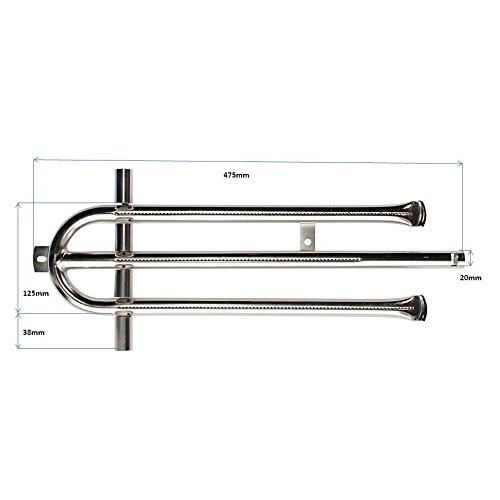 LAG Edelstahl Brennerrohr-Set//Brennerset f/ür 4-flammige Gas-Grill//-Br/äter BRS4-XCR