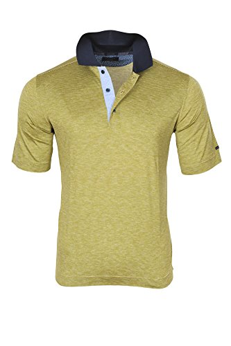 Paul & Shark Polo Poloshirt Herren Grün Weiß Regular Fit Baumwolle Casual L