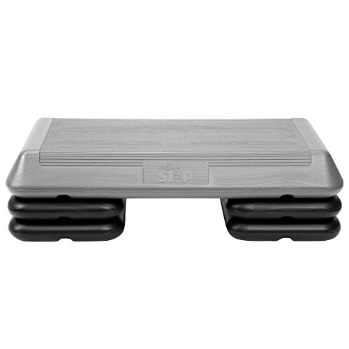 - The Step Original Aerobic Platform - Circuit Size Grey Aerobic Platform and Four Original Black Risers Included with 4